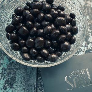 Indulgent dark chocolate cranberries